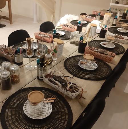 Sfeer workshop tafel